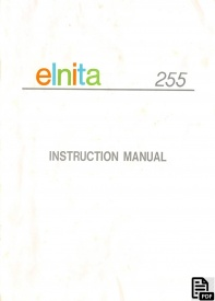 elnita_255_sewing_instruction_manual